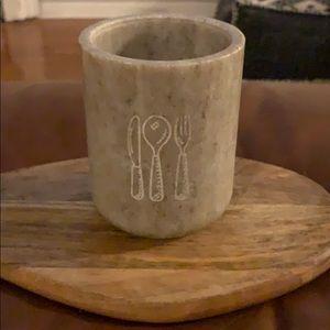 Pottery Barn Marble Utensil Holder